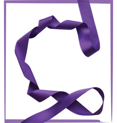 purple ribbon over white background design element vector image
