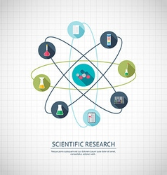 Research concept Chemical banner background cover vector image