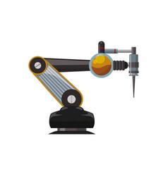 robotic arm technology vector image