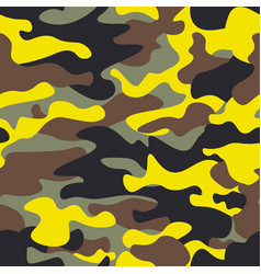 Seamless fashion wide woodland and yellow camo vector