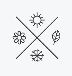Set four seasons icons the seasons winter vector