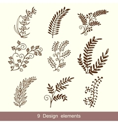 Set of Hand Drawn Doodle Design Elements vector image