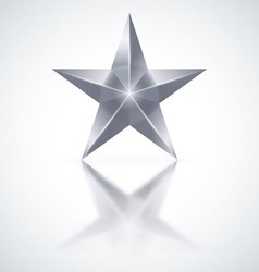 Silver star on white background vector image