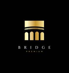 simple bridge logo design vector image