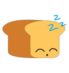 sleeping bread on white background vector image