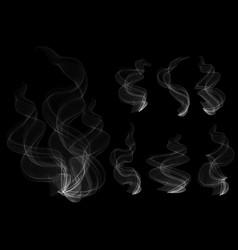 Smoke clouds vector
