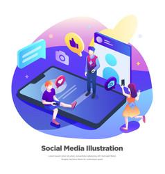 Social media modern flat design vector