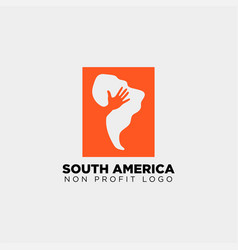 south africa charity logo template icon element vector image