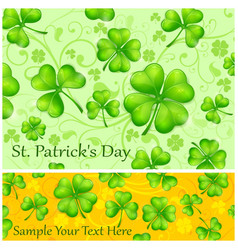 st patrick s day background vector image