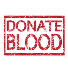 stamp text donate blood vector image