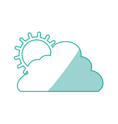 sun cloud weather vector image