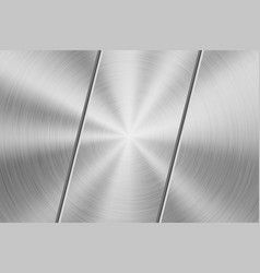technology background with circilar metal chrome vector image