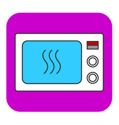 The microwave oven icon vector