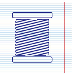 thread sign navy line icon vector image