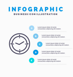 Time timer compass machine blue infographics vector