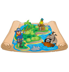 Treasure map topic image 7 vector