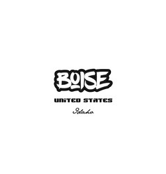 United states boise idaho city graffitti font vector
