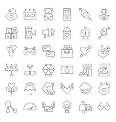 Valentine and romance elements line icon such as vector