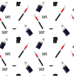 Vape shop pattern vector