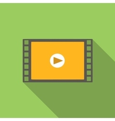 Video flat icon vector image