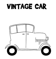 Vintage car style of transportation vector