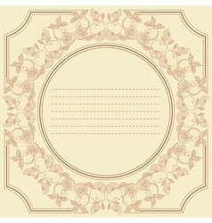 vintage frame card with citrus fruits vector image