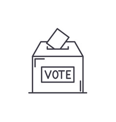 vote line icon concept vote linear vector image