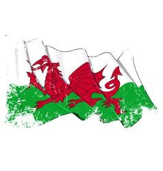 Wales Flag Grunge vector image
