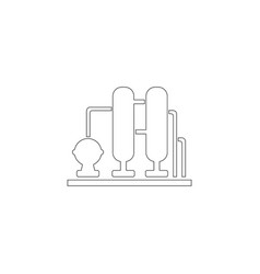 water filter flat icon vector image