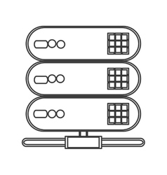 Web hosting icon vector