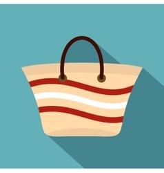 Women beach bag icon flat style vector