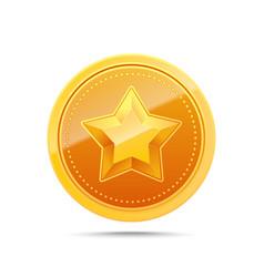 3d gold medal winner award icon vector image