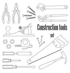 a set of design elements for construction vector image