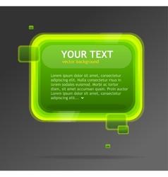 Abstract green speech bubble vector image