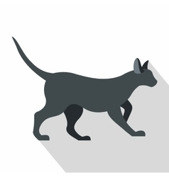 Cat icon flat style vector image vector image
