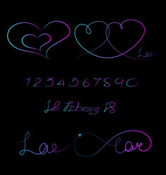 lined pattern love infinity valentine day vector image vector image