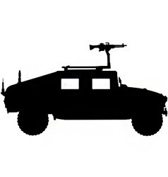 military 4x4 vehicle silhouette vector image vector image