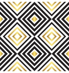 Seamless black and gold pattern vector image vector image