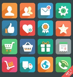 Universal Flat icons set for Web and Mobile App vector image vector image