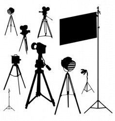 cinematographic set traced vector image