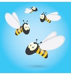 cartoon cute bright baby bee vector image vector image