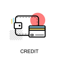 credit card graphic icon vector image vector image