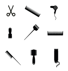hair salon elements icon vector image vector image