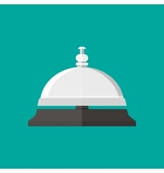 Reception service bell in flat style vector image vector image