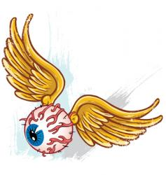 abstract eyeball vector image vector image
