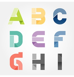 alphabet modern paper cut abstract style Design vector image vector image