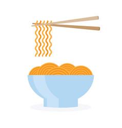 asia noodle bowl food vector image