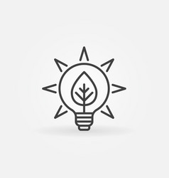bulb with leaf icon vector image vector image