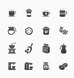 Coffee symbol icons vector