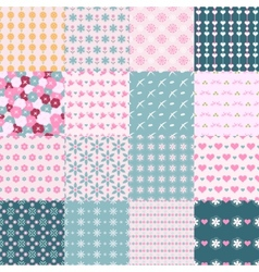 fashionable seamless patterns vector image vector image